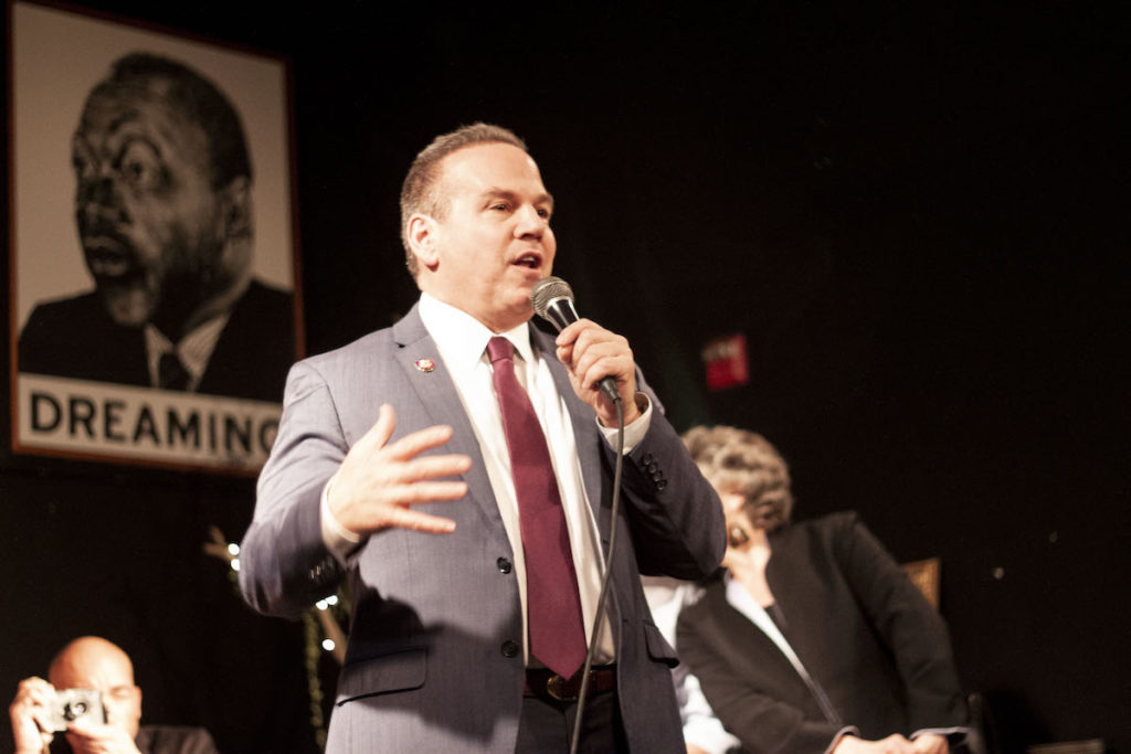 Representative David Cicilline for Rhode Island's 1st congressional district joined Busboys and Poets for a New House Celebration at its 14th & V location.