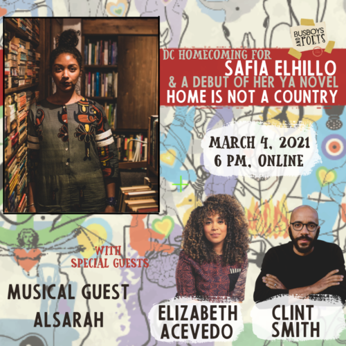 Safia Elhillo with Elizabeth Acevedo, Clint Smith, and Alsarah