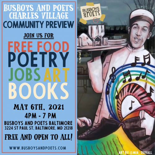 Busboys and Poets, Baltimore - Community Preview Event