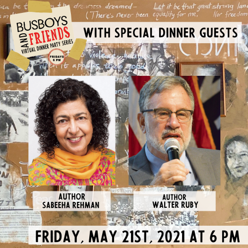 Walter Ruby and Sabeeha Rehman Busboys and Friends! Virtual Dinner with Andy Shallal 