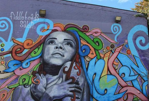 Mural at Fiddleheads Salon